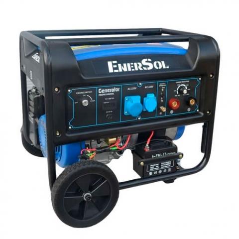 Купить Бензиновый сварочный генератор однофазный EnerSol SWG-7E Ирпень Киев Буча Киевская область