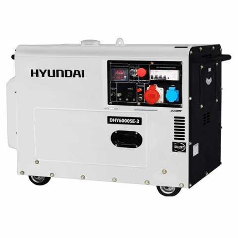 КупитьДизельный генератор Hyundai DHY 6000SE-3 Ирпень Киев Буча Киевская область