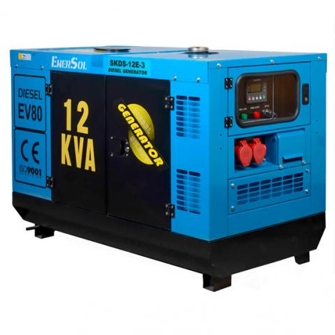 Купить Генератор дизельный EnerSol SKDS-12E-3B Ирпень Киев Буча Киевская область