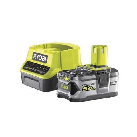 Купить Ryobi RC18120-150 18В набор из аккумулятора (1ˣ5.0Ач) и зарядного устройства и зарядного устройства в интернет магазине инструментов Ирпень Буча Киев Украина